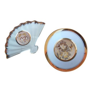 Chokin Art Dishes - A Pair For Sale