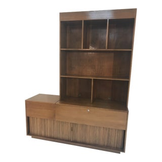 1960s Mid Century Modern Glenn of California Stereo Credenza and Custom Top Piece For Sale