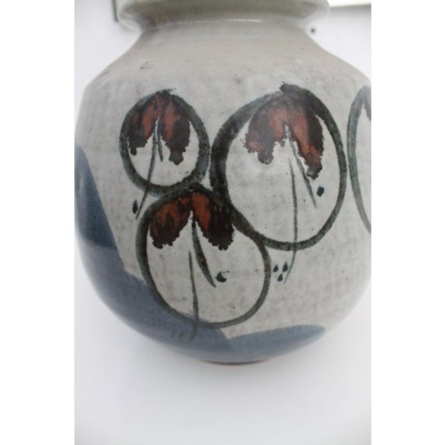 Brown Vintage Studio Pottery Jar Vase & Cork Stopper For Sale - Image 8 of 9