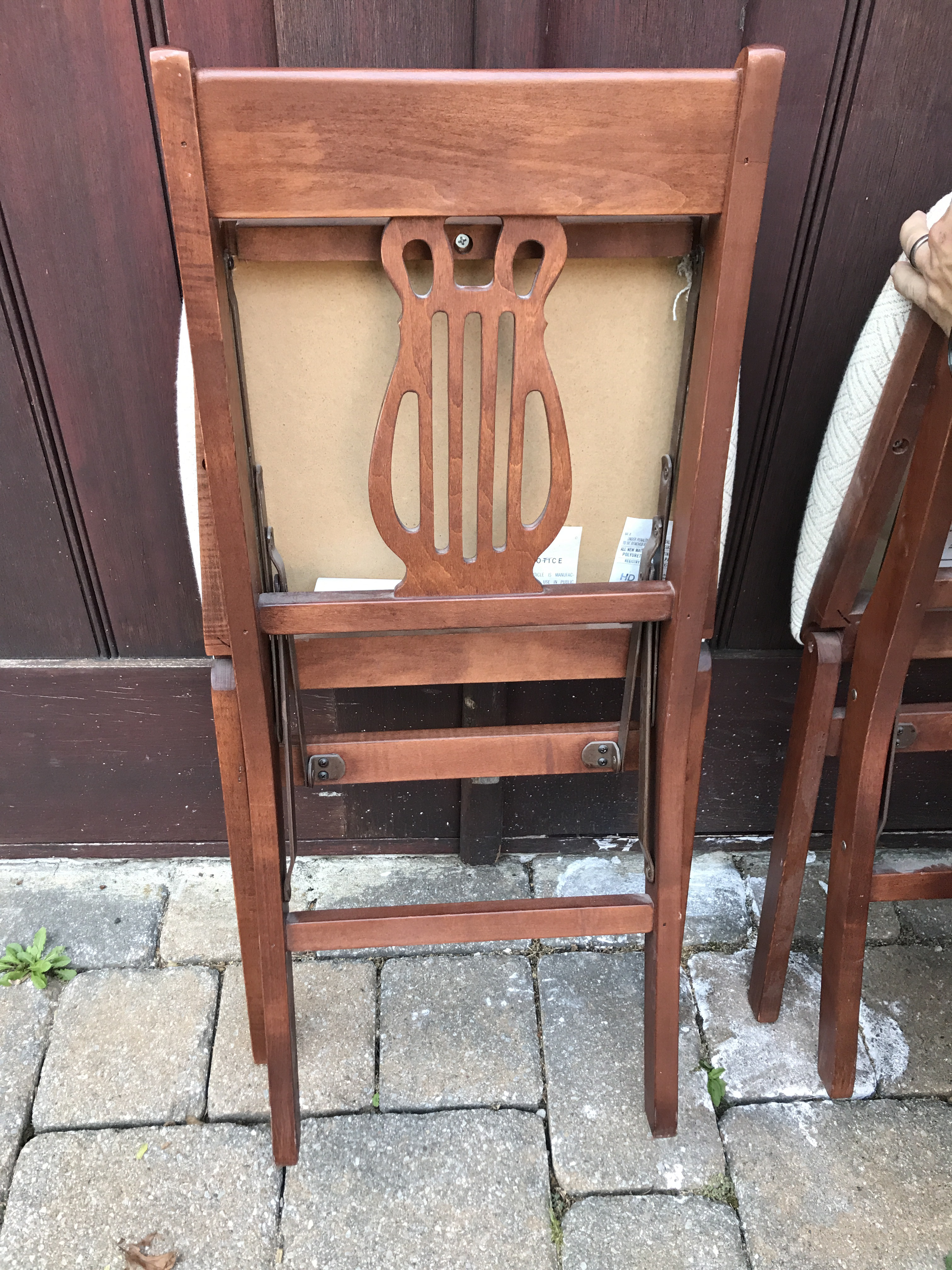 Vintage Stakmore Harp Back Chairs   Set Of 4   Image 4 Of 6