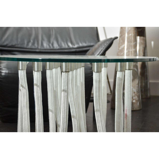 Late 20th Century Round Glass Coffee Table by F. Novembre For Sale - Image 5 of 6