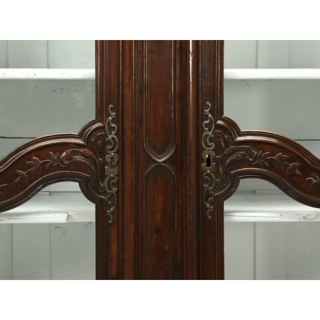 Antique French Walnut Armoire or China Cabinet For Sale - Image 10 of 13