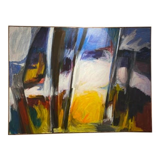 Mid 20th Century Abstract Oil Painting For Sale