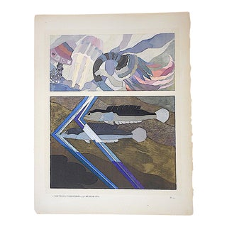 Vintage Hand Printed Pochoir Print by Benedictus-Paris-C.1924