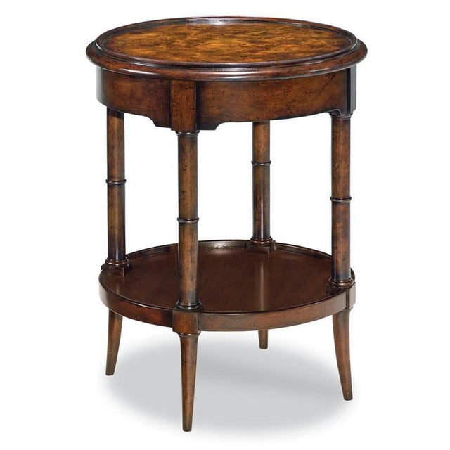 Transitional Modern Regency Round Drink Table For Sale - Image 3 of 3