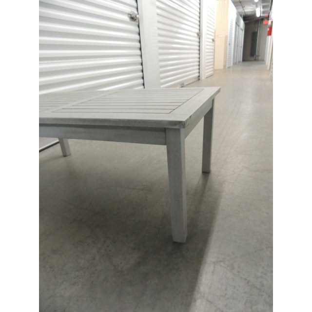 Modern Outdoor Safavieh Weathered Finish Coffee Table For Sale - Image 3 of 8