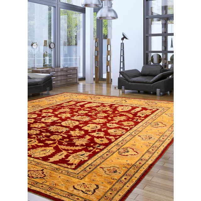 - One-of-a-kind handmade rug — only one in stock. - Handwoven in Peshawar, Pakistan. - 100% wool. - Handmade rugs are...