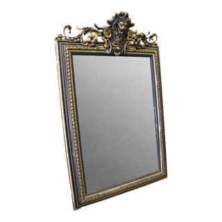 Figural Lion Head Mantel Mirror For Sale