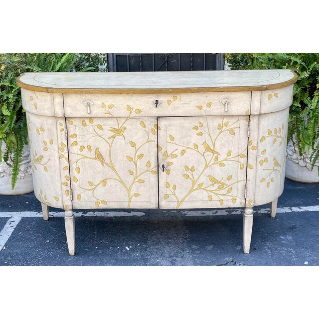 Antique White Equator Furniture Company Rustic Painted Sideboard Buffet Credenza Cabinet For Sale - Image 8 of 8
