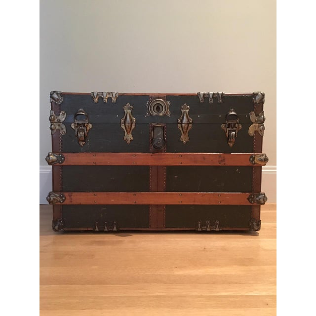 Antique English Steamer Trunk - Image 2 of 10