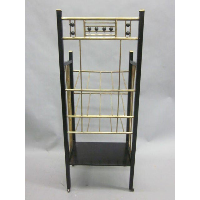 Early 20th Century Viennese Secession Etagere / Magazine Stand in the Style of Koloman Moser For Sale - Image 5 of 10