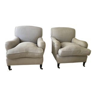 George Smith Arm Chairs - a Pair