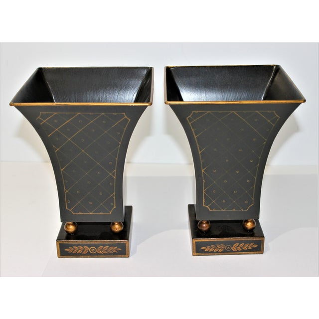 Vintage Dark Green Cachepot - a Pair For Sale - Image 4 of 9