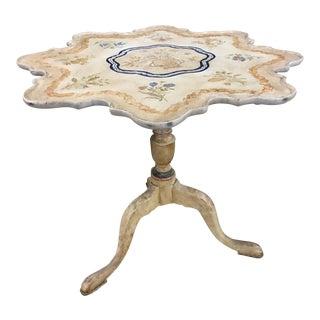 Minton Spidell Paint Decorated Tilt Top Tea Table