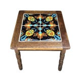 Image of 20th Century Mission Style Painted Top Side Table For Sale