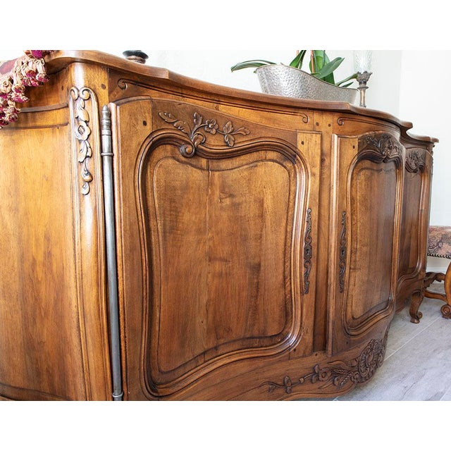 None Antique French Walnut Enfilade 3-Door Sideboard For Sale - Image 4 of 11