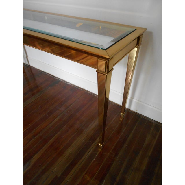 Louis XVI Brass Console Table - Image 4 of 8