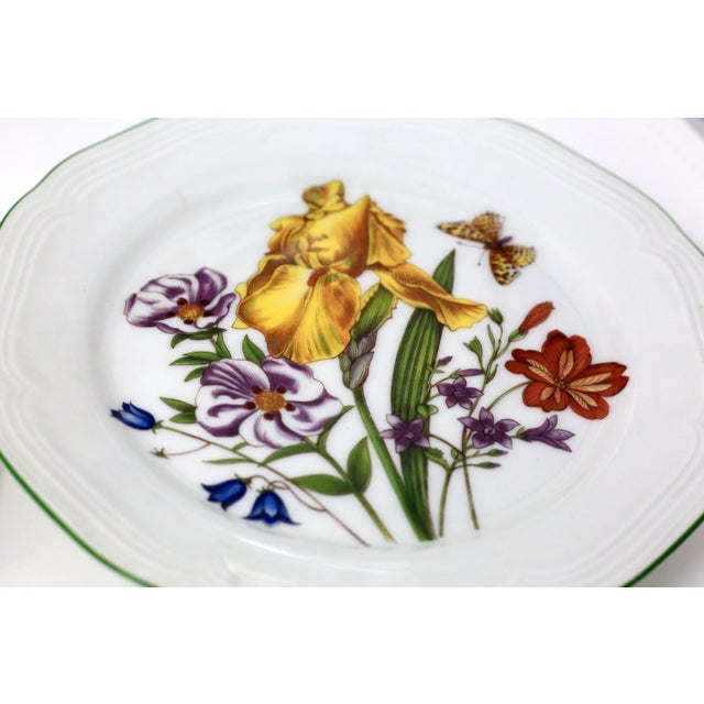 Vintage Bavarian China Floral Salad Plates by Bareuther - Set of 6 For Sale - Image 4 of 12