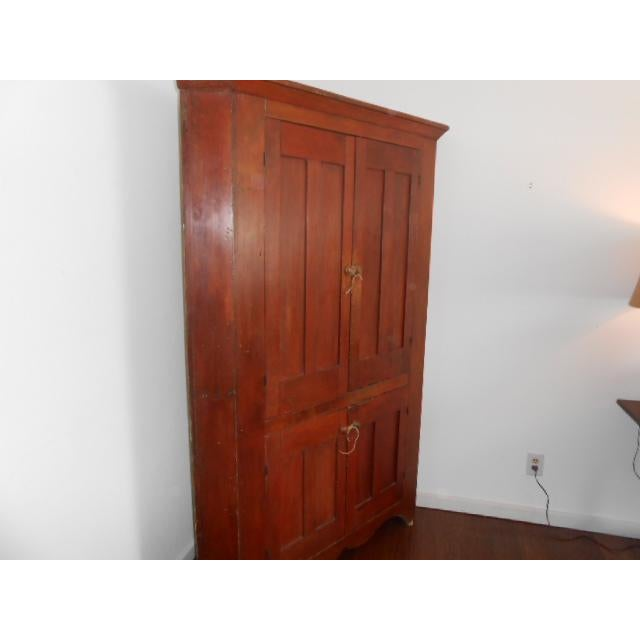 Early American 19th Century Early American Corner Cupboard For Sale - Image 3 of 11