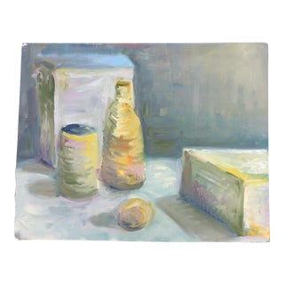 Pastel Still Life Oil Painting on Paper For Sale