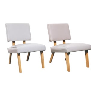 Pair of Modernist Low Chairs For Sale