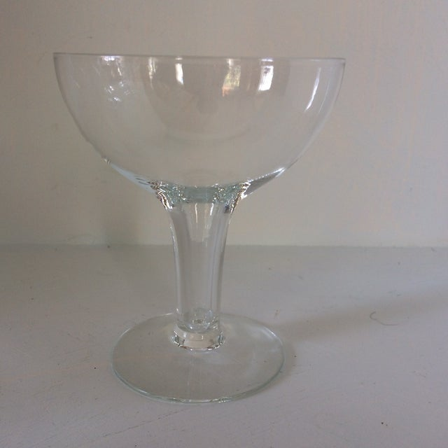 Italian Vintage Italian Half Sphere Hollow Stem Crystal Champagne Glasses - Set of 8 For Sale - Image 3 of 13