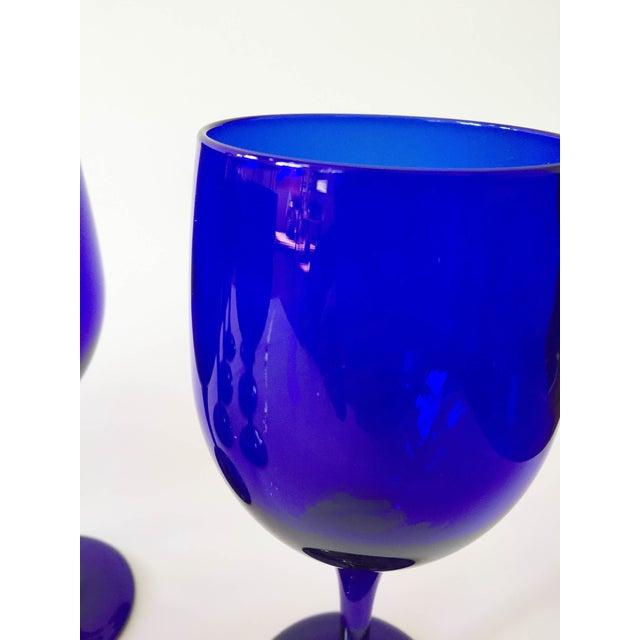 Vintage Cobalt Blue Wine Glasses - Set of 8 - Image 5 of 5