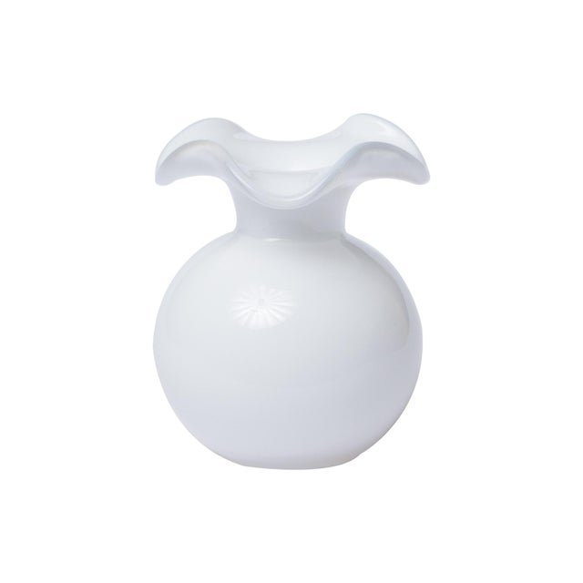 Kenneth Ludwig Chicago Vietri White Hibiscus Bud Vase from Kenneth Ludwig Home For Sale - Image 4 of 4
