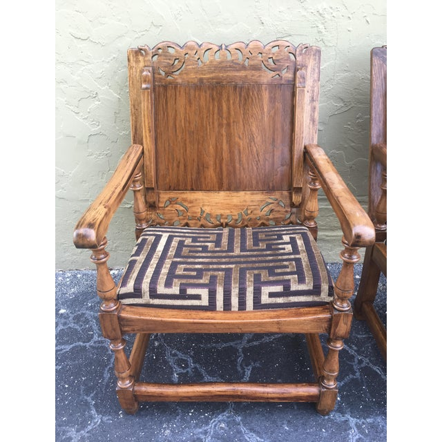 Wood 19th Century Convertible Pair of Monk's Chair or End Table,Foldable Armchair For Sale - Image 7 of 11