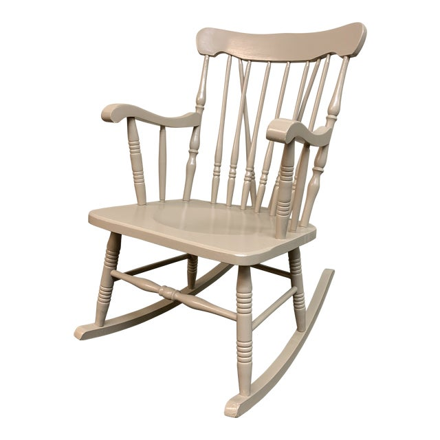 Vintage Painted 3/4 Size Rocking Chair For Sale