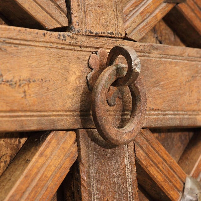 1920s Antique Carved Moorish Door For Sale - Image 5 of 10