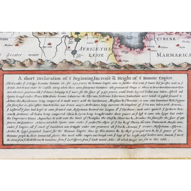 Framed Map of Roman Empire For Sale - Image 4 of 11