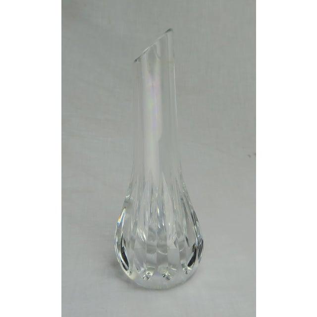 1980s Baccarat Crystal Bud Vase For Sale - Image 5 of 9