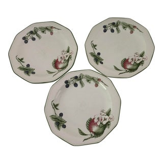 Modern Churchill Victorian Orchard Set of 3 Dinner Plates For Sale