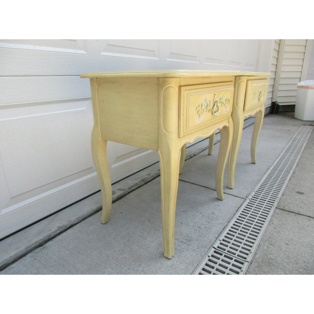 White 20th Century French Country Nightstands - a Pair For Sale - Image 8 of 10