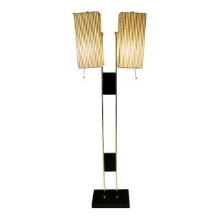 Double Shade Vintage Standing Lamp For Sale