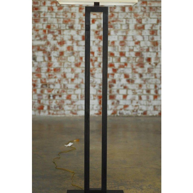 Modern Bronze Doughnut Floor Lamp by Robert Abbey - Image 5 of 9