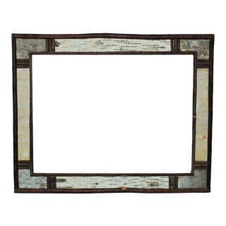 """Vintage Adirondack Picture Frame Birch Tree Wood Rustic Cabin 18"""" X 24"""" Opening For Sale"""