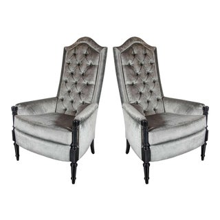Pair of Mid-Century Modernist Occasional Chairs in the Manner of James Mont