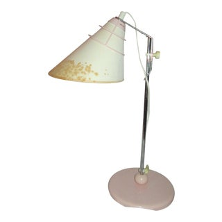 Aneta Vintage Adjustable Pink and White Table Lamp From Sweden For Sale