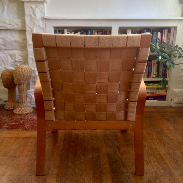 Bruno Mathsson 1990s Vintage Bruno Mathsson Style Molded Plywood Armchair For Sale - Image 4 of 9