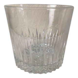 Mid Century Princess House Cut Crystal Etched Ice Bucket For Sale