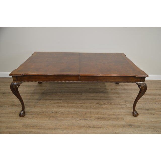 Henredon Rittenhouse Square Collection Mahogany Chippendale Ball & Claw Banded Dining Table For Sale In Philadelphia - Image 6 of 13