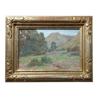 """Charles Fries """"Eucalyptus Among the Hills"""" California Oil Painting For Sale"""
