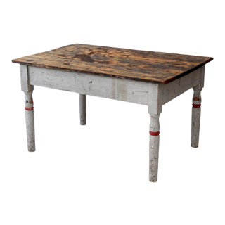 Antique Primitive Painted Table For Sale