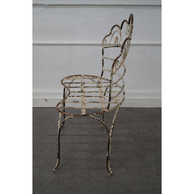 Antique French Iron Garden Patio Bench - Image 3 of 10