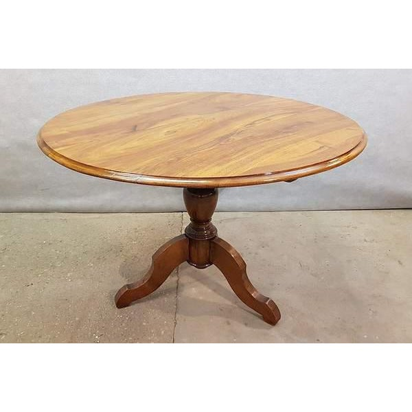 Antique French Walnut Round Tilt Top Occasional Side Wine or Breakfast Table. Beautiful, practical and timeless, this...