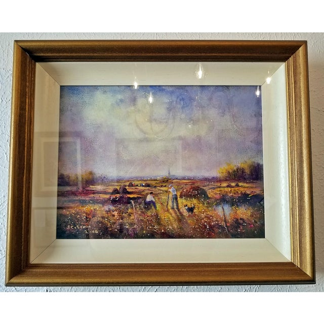 Irish Oil on Canvas of Ballaghadereen Bog by Seamus Coleman For Sale - Image 4 of 9