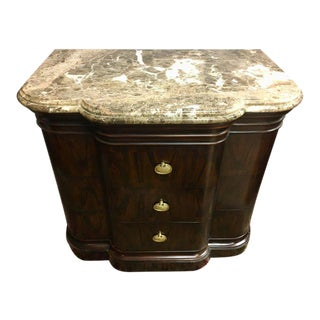 Theodore Alexander Flame Mahogany Marble-Top Commode Dresser Chest of Drawers