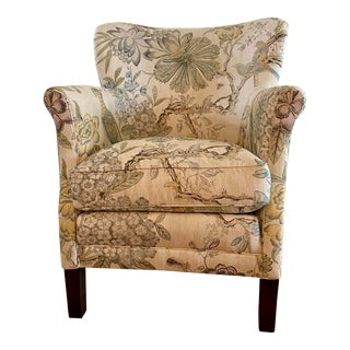 Lee Industries Anna French Fabric Arm Chair For Sale